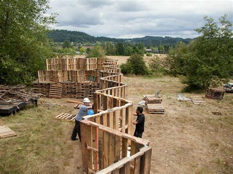 How To Build A Pallet by Portland Architecture Students Build Outdoor
