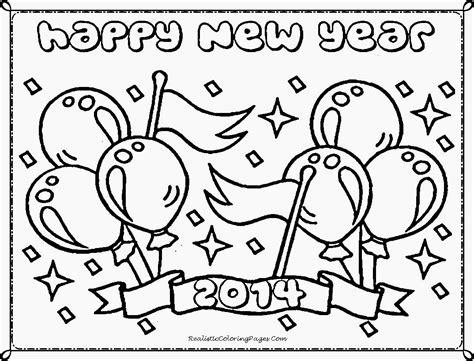 Free Coloring Pages Of Happy New Year 2015 Coloring Pages New Years