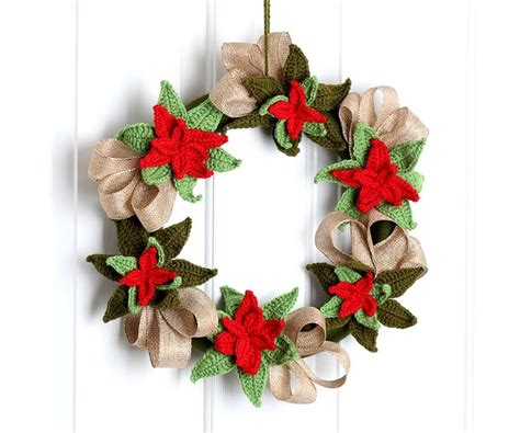 crochet pattern for xmas wreath our best free christmas crochet patterns