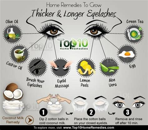 home remedies to grow thicker and longer eyelashes top