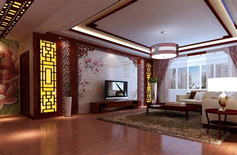 chinese living room retro and modern living room design by chinese style