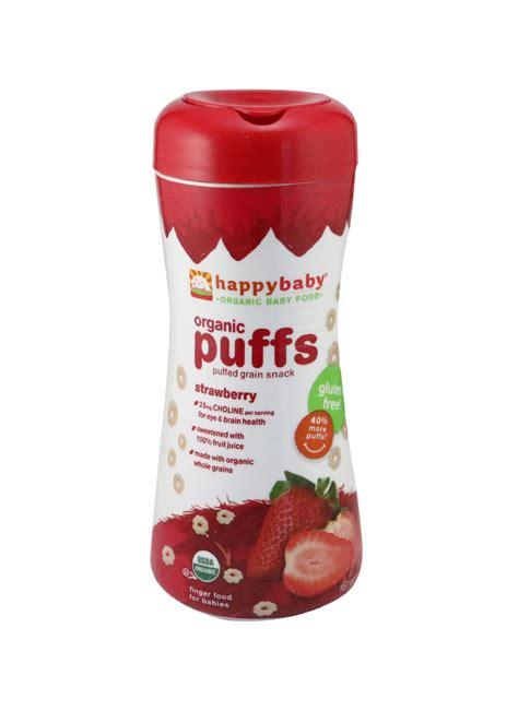 Promina Puffs Burberry Dan Pisang Makanan Mpasi Makanan Bayi happy baby organic puffs strawberry tps 60g klikindomaret