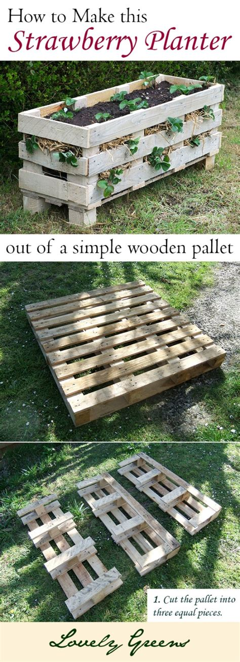 How To Make A Strawberry Planter Out Of A Pallet how to make your own planter