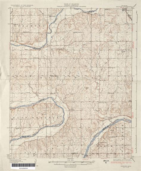 topographical map of oklahoma oklahoma historical topographic maps perry casta 241 eda map