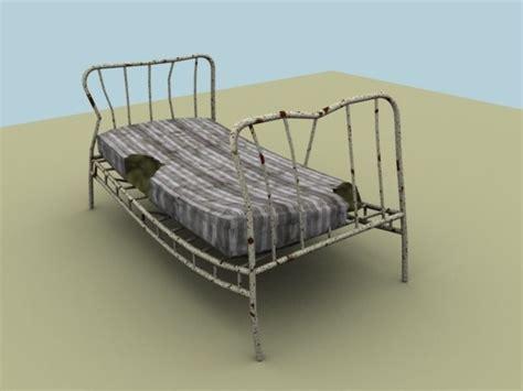 Broken Futon by Broken Bed 3d Model Ready Max Obj 3ds Fbx Mtl