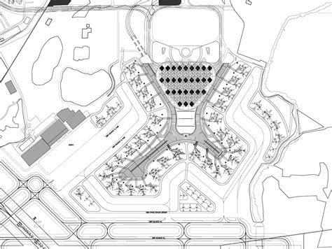 airport floor plan design som unites mumbai airport terminal with fractal roof canopy