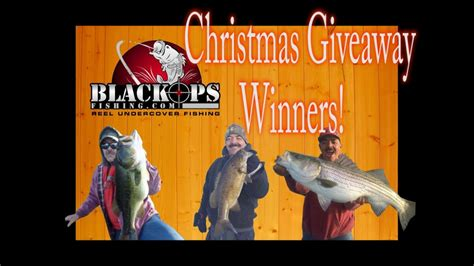 Fishing Tackle Giveaway - christmas fishing tackle giveaway winners youtube