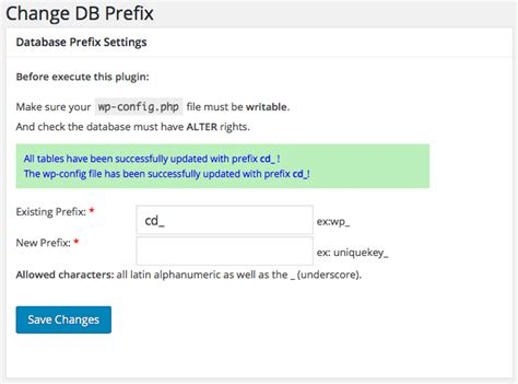 easily change prefixes in a database in minutes uv design wp config php file in depth view on how to configure