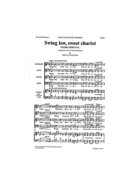 swing low sweet chariot choir free sheet music swing choir vocal pdf mp3 midi