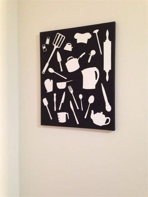 Diy Canvas Wall Art Kitchen Crafty Pinterest Kitchen Canvas Wall Decor