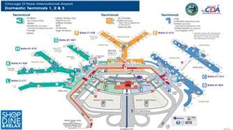 Chicago Ohare Gate Map by Map Of Chicago O Hare Airport You Can See A Map Of Many