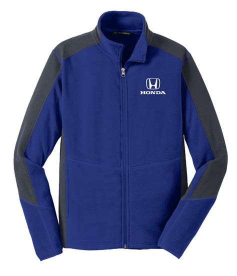 Jaket Zipper Or Die honda blue and grey zip fleece jacket hm7401