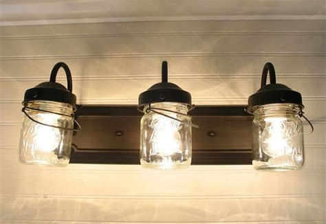 Jar Bathroom Light by Vintage Clear Canning Jar Vanity Sconce By Lgoods Want This For Our Master Bath Re