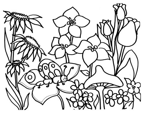 coloring pages of flowers and gardens garden coloring pages printable az coloring pages