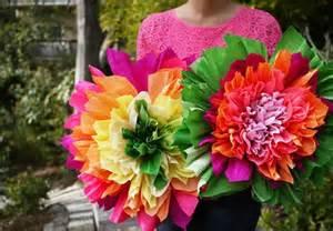 Mexican Crepe Paper Flowers - como fazer flor de papel seda grande passo a passo
