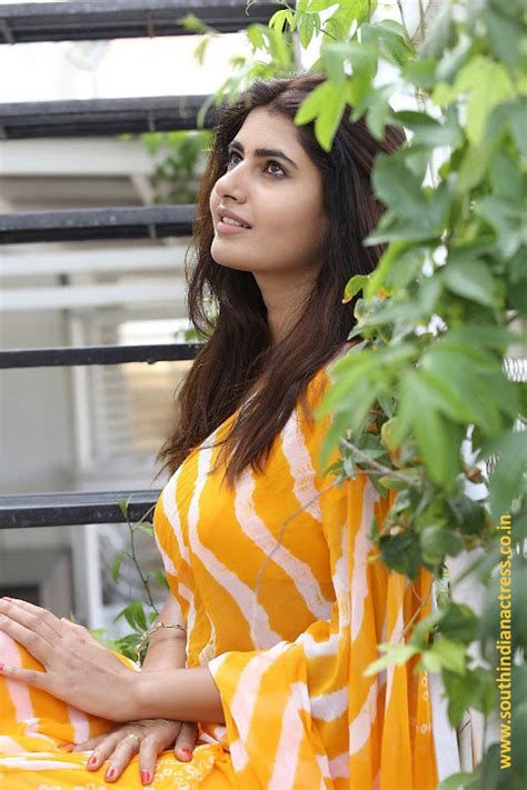 Ashima Narwal Latest Pics In Yellow Saree South Indian