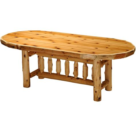 log oval dining table cabin place