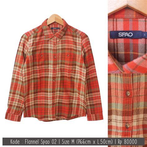 Kemeja Flannel Net Square jual kemeja flanel flannel pria wanita cowo cewe branded original likenew store