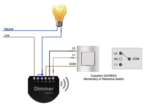 using a 3 position switch with a fibaro dimmer smart