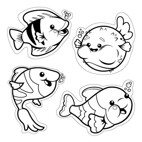 Fish Cut Out Template Az Coloring Pages Coloring Pages Cutouts