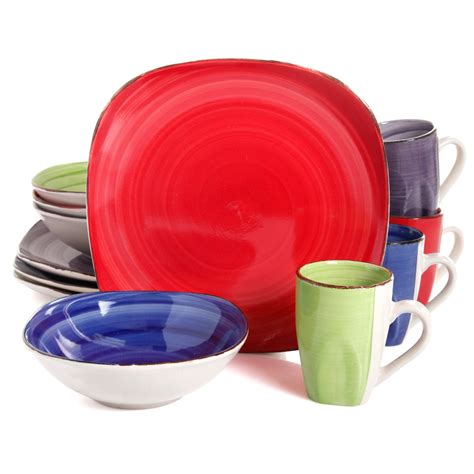 dinnerware colors gibson home color vibes 12 dinnerware set 4 asst colors