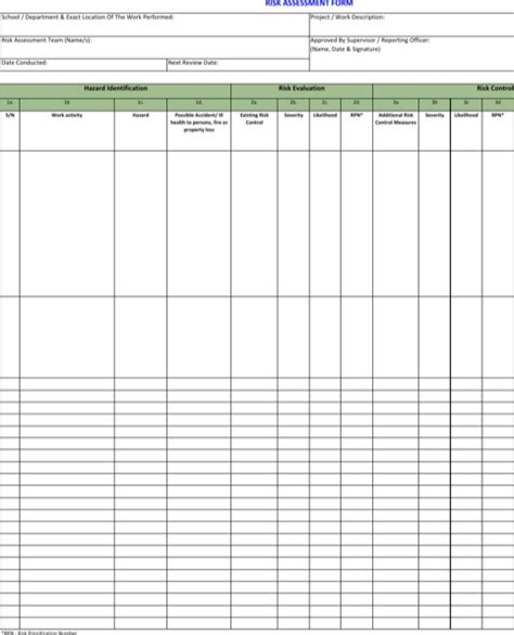 risk matrix template excel excel matrix templates for free formtemplate