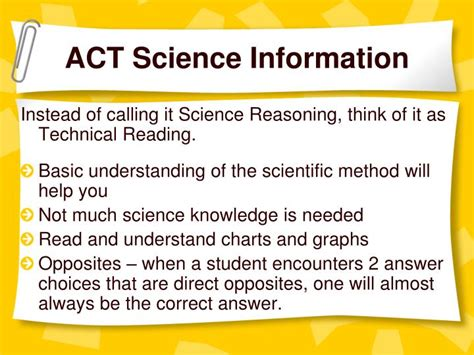 act science section tips ppt act test preparation powerpoint presentation id
