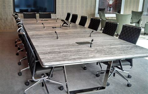 custom conference stone top conference table decca