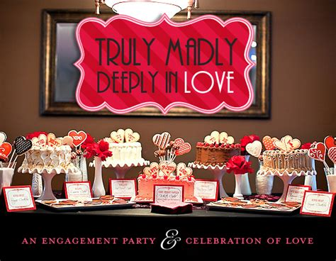 love themed events a celebration of love engagement party hostess with