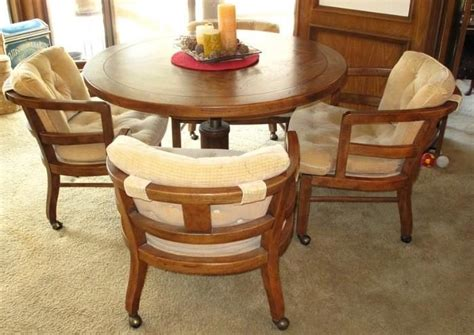 game table chairs with casters 17 best images about mom s new house on pinterest chairs