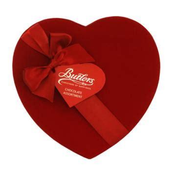 butler s chocolate valentines day velvet shaped gift