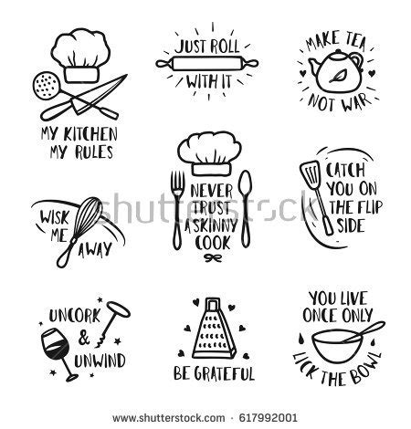 kitchen set picture to color sayings stock images royalty free images vectors