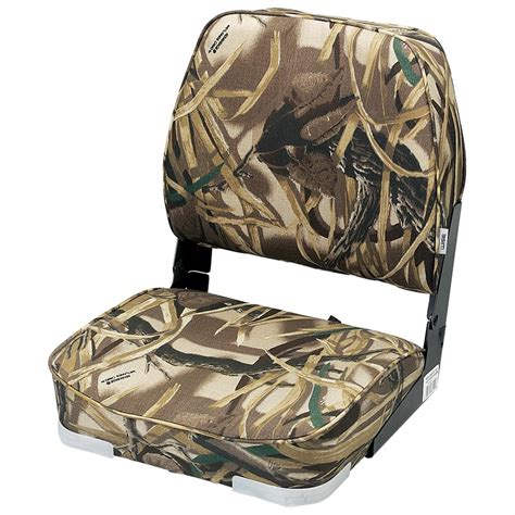 camo fishing boat seats wise camouflage hunting fishing fold down boat seat