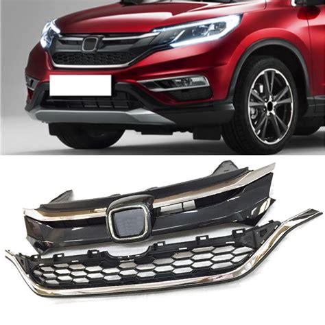 All New Crv Chrome List Sing 1 2pcs abs chromed front grill bumper grille for honda crv cr v 2015 2016 ebay