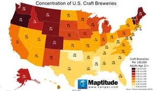 breweries of the united states map featured maptitude maps
