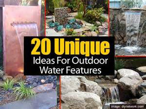 Water Fountain In Backyard 20 Unique Ideas For Outdoor Water Features