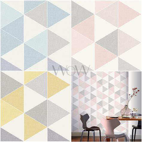 arthouse scandi triangle geometric wallpaper pastel