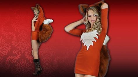 sexy fox halloween costume idea youtube