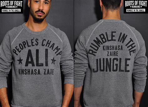 Hoodie Muhammad Ali Roffico Cloth roots of fight muhammad ali rumble in the jungle 40th