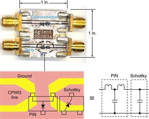 reduce losses in rf schottky pin limiter circuits