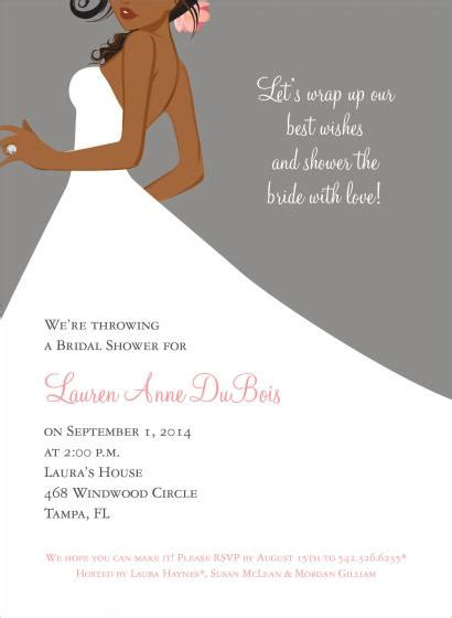 american themed party quotes african american bride bridal shower invitation bridal