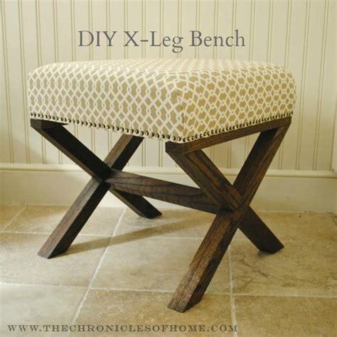 x leg bench tutorial for diy x leg upholstered bench