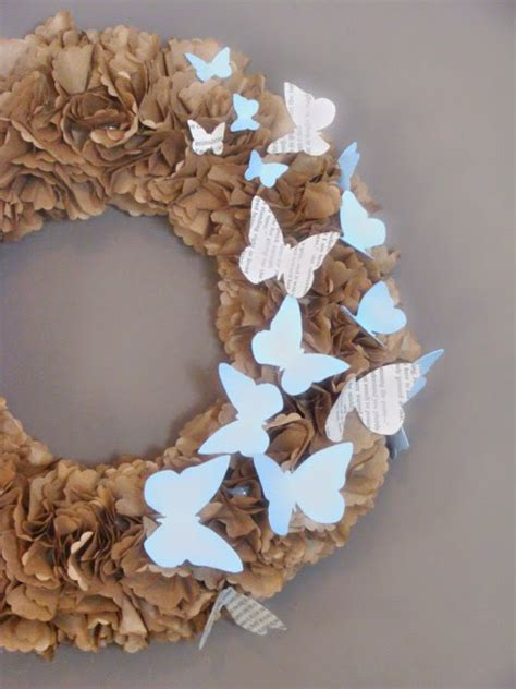 Brown Paper Bag Crafts - make a ruffly wreath with paper sacks dollar store crafts