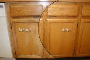 Restain Kitchen Cabinets Before And After Refinish Kitchen Cabinets Before And After Small Kitchen Renovation Ideas