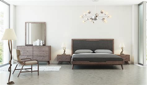 walnut bedroom set domus soria mid century grey walnut bedroom set