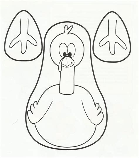 Turkey Template Cut Out Turkey Hat Craft Template