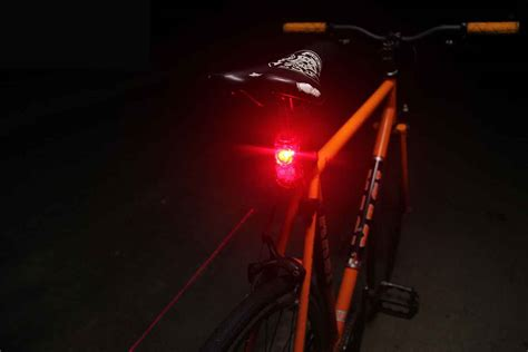 rear ended at a red light tested bike light creates laser lanes on dark streets