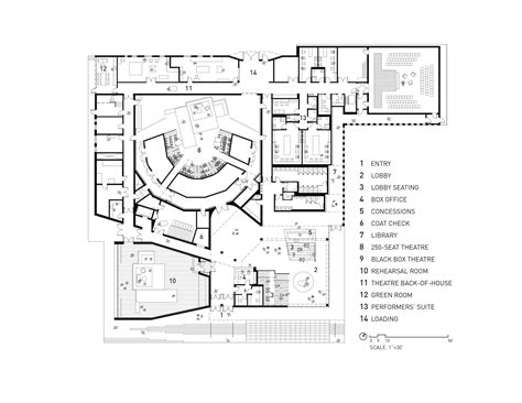 chicago theater floor plan gallery of writers theatre studio gang architects 7