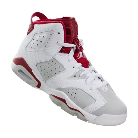white basketball shoes air vi 6 retro alternate basketball