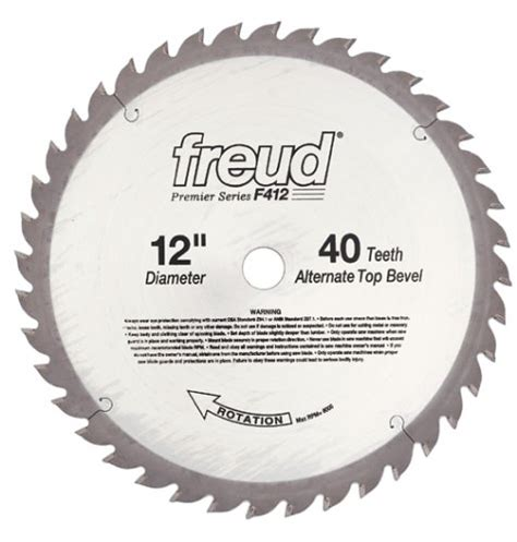 freud f408 premier 8 inch 40 tooth atb saw blade with 5 8
